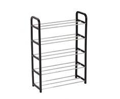 Metal 5-tier rack/mensola – può contenere fino a 15 paia di scarpe