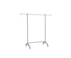 Stender, appendiabiti Le Roi,mod.Home,PROFESSIONALE, appendiabiti di design,piedi in alluminio fuso e ruote in gomma , H 160 - L100 e 40+40 prolunghe sfilabili.