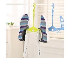 Leorx scarpe gancio asciugatura scaffale scarpe Hanger organizer appendiabiti grucce in plastica