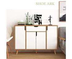 Scaffale per scarpe multifunzionale Armadio scarpiera imitazione legno moderno semplice balcone Foyer Locker multifunzionale Per il dormitorio della camera da letto dell'entrata del corridoio