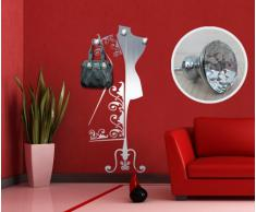 """Adesivo murale Appendiabiti Wall Art """"Atelier con gioielli"""" - Misure 66x170 cm - Decorazione parete, adesivi per muro, carta da parati"""