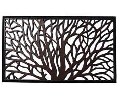 CASA TESSILE Zerbino in Gomma cm 45X75 New Iron Effetto Metallo - Marrone