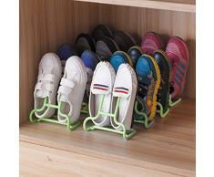 KinderALL Scaffale per Scarpe da casa Porta Scarpe Mensola del Bagno Scaffali per Scarpe Scatola portaoggetti in plastica con cassetto Blue