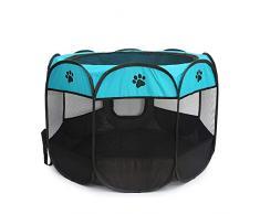 LEACK Portacappelli Portatile per Cani Pieghevoli Indoor Outdoor Cats Coniglio Kennel Rimovibile Copertura Paralume in Rete