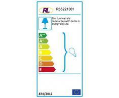 Reality R65221001 Bromelie Plafoniera, 1xE27, 60 W, Bianco, 33 cm, incandescente, plastica
