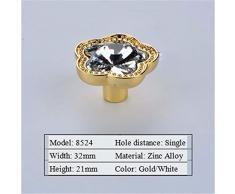WanJiaMen'Shop Maniglia in Vetro per Porta scarpiera con cassetto Porta Guardaroba, Stile Moderno, 8524-Gold