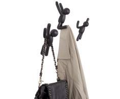 BUDDY HOOKS - appendiabiti set tre omini - colore nero