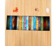 Wanshop®, tappeto per sala da pranzo tappeto ispido per camera da letto, rettangolare, antiscivolo, assorbente per corridoio, soggiorno, camera dei bambini o cucina, Poliestere, Multicolor, 40*120CM