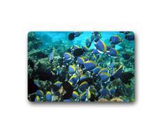 Doubee Pesce Tropicale Zerbino Premium Zerbino Zerbino in Giardino di casa 60 cm x 40 cm, Tessuto, e, 23.6x15.7