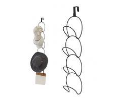 Yoassi Multi-Funzione Hat Rack Holder Tappi in Acciaio con Gancio sulla Porta Cappelli/Asciugamani/Cappelli/Cinture/Sciarpe/Accappatoi