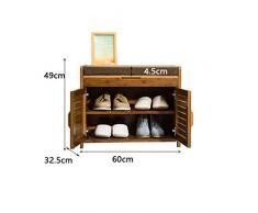 Scarpiera THBEIBEI Bamboo Storage Organizer Portascarpe Versatile e Resistente può Essere Usato Come Un poggiapiedi e Una panchina per Scarpe. (Colore : A, Dimensioni : M)