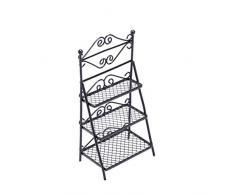 HEALIFTY 1:12 Metallo Mobili per Case Delle Bambole Scarpe Mensola Portafiori Scarpiera per Bambini Fai da Te Casa Delle Bambole Paesaggio in Miniatura Fata Decorazione Del Giardino (Nero)