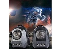 NKLD Accessori per Animali Domestici-Portacappelli per Animali Domestici, Bubble Astronaut Traspirante Trasportatore di Capsule Traspirante, Compagnia Aerea Approvata per Il Viaggio Escursionismo