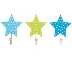 Appendiabiti per bambini a forma di stelle, Set 3 pezzi