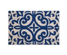 Excelsa Maioliche Zerbino Ingresso, Fibra di Cocco, Blu, 40 x 60 cm