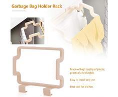 ZengBus Portacappelli Portatile Appeso Cucina Porta Posteriore Tipo Clip Stand Armadio per la casa Armadietto per Asciugamano - Riso Bianco