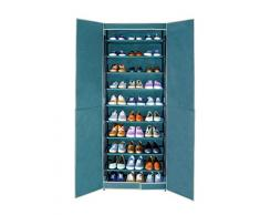 Wenko 4381635500, Scarpiera Breeze, fino a 30 paia di scarpe, in fibra di polipropilene, 61 x 160 x 32 cm, petrolio