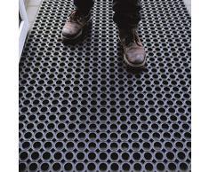 Tappeto in Gomma Antiscivolo a Griglia | Zerbino Ingresso Esterno, Antisporco, Drenante | Octo Door | Spessore 16mm - Varie Misure (100x100cm Kit)