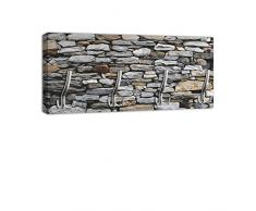 Appendiabiti con Design grigio pietra muro maniglia, attaccapanni appendiabiti da parete DG022