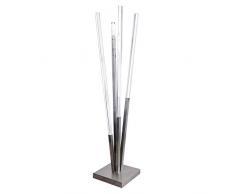 Appendiabiti da terra in acciaio satinato e plex, plexiglass da ingresso / soggiorno / arredo design moderno