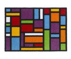 'Zerbino/zerbino/zerbino/zerbino/tappetino/zerbino modello, Ambiance Flash Carré spiritoso Rainbow Dimensione: circa 50 X 70 cm./lusso Hochflor qualità con ottico bedrucktem Rand/di alta qualità In beindruckendem Design mosaico mosaico Zerbino