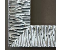 Specchio da parete, specchio per bagno, ingresso, guardaroba – oltre 200 misure – Bologna, argento 6,2, Dimensioni esterne dello specchio, argento, 80 x 120