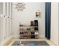 Mulsh scaffale scarpiera mensola torre, impilabile, ingresso 20 paia di scarpe scarpiera, 90.4 x30.5 x84.5 cm (L x P x H) Grey