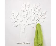 Appendiabiti attaccapanni da paretr bianco in mdf legno 100 x 93 cm