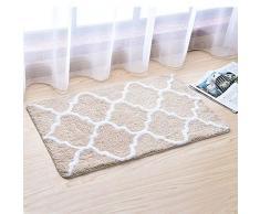Homieco zerbino Grandi tappetini da Bagno Tappeto Morbido Assorbente da Pavimento Tappeto da Esterno Zerbino Antiscivolo, Grande/Beige