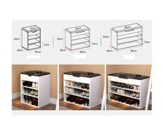 DELLT- Assemblaggio scarpa scarpa semplice e moderno sottile gabinetto sala armadio grande capacità ingresso scarpiera scarpiera portatile europea ( dimensioni : 80 centimetri )