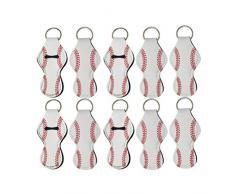 Minkissy 10Pz Portacappelli Portamacchette Portatili per Labbra Balsamo Portachiavi Portachiavi Accessori da Viaggio per Donna (Bianco)