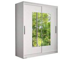 JUSThome Dorrigo Armadio ingresso Guardaroba (AxLxP): 200x150x58 cm Colore: Bianco