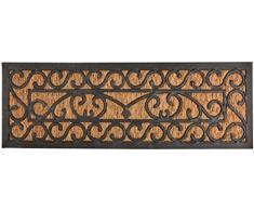 Esschert Design rb168 porta/Stufe Zerbino, Fibra di Cocco, gomma, Nero/Marrone, 75 x 25 x 0.9 cm