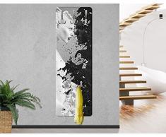 Bilderwelten Appendiabiti - Milk & Coffee II - Appendiabiti design, attaccapanni, appendiabiti da parete, attaccapanni a muro, pannello appendiabiti in legno, appendiabiti da muro, appendiabiti moderni, Dimensione: 139cm x 46cm