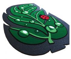 Zerbino gomma antiscivolo FOGLIA 40x70 cm asciuga passi interno esterno tappetino sagomato mod.FORMAT 56