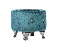 zdw Sgabelli per mobili/sedie Tessuto cristallo Decorazione per la casa Piccola scarpiera Divano singolo Capacità di carico 150 kg,Blu,47 * 47 * 39 cm