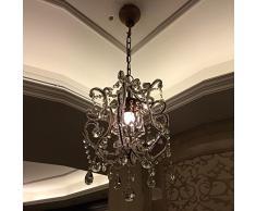 French Vintage cristallo soffitto American Village sala da pranzo foyer ingresso appendiabiti ferro lampadario a sospensione