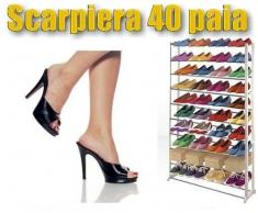 Scarpiera 40 paia shoe rack amazing dieci scaffali mobile salvaspazio portascarpe da ingresso ripostiglio organizer mws