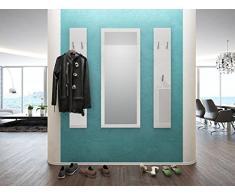 Welcome appendiabiti a muro con specchio disponibile in 13 colori. Consegnato in colore bordeaux