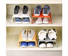 LEORX salvaspazio antiscivolo, mensola porta Organizer salvaspazio per scarpe