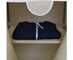 Rebecca Srl Guardaroba Mobile armadio Tessuto Beige 1 Mensola Salvaspazio Ingresso (Cod. RE4675)
