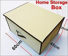 Generic sotto il letto cassapanca Room clothes organizer giocattoli scarpe cuscini 60 x 45 x 30 cm < 1 & 2548 * 1 >