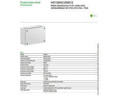 Schneider elettrico in acciaio metallo recinzione elettrica da esterno NSYSBMC208012 IP55 impermeabile impermeabile progetto box Enclosure strumento di Hoby fusibile DIY Board cavo entrata armadio a tenuta stagna