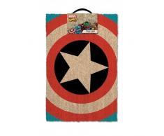 Lasgo Captain America Zerbino Shield, Materiale Sintetico, Multicolore, 60x40x2 cm