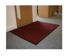 Barriera JVL-Zerbino con retro in gomma antiscivolo per tappetini, in vinile, rosso/nero, 80 x 120 cm, misura grande