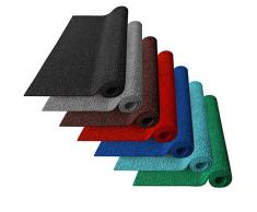 Zerbino Ingresso Esterno - Zerbino PVC Ricciolo - Tappeti da Esterno Gomma, Drenanti e Igienici in 7 Colori e 3 Misure - 120x100 cm - Nero