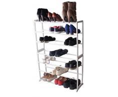 Vinsani 7 ripiani scarpiera scaffale organizer Hold supporto per 21 paia di scarpe White