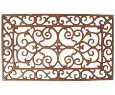 Esschert Design Elegante Stile Country zerbino Rossastro zerbino, zerbino in ghisa, Circa 2 cm di Spessore