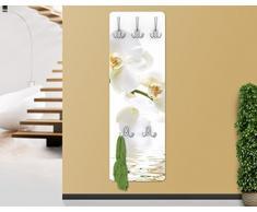 Appendiabiti - White Orchid Waters 139x46x2cm, appendiabiti a muro, appendiabiti da muro, appendiabiti da parete, appendiabiti design
