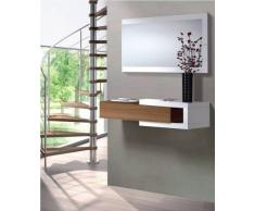 Links Toledo B4 - Mobile ingresso con specchio - Bianco lucido